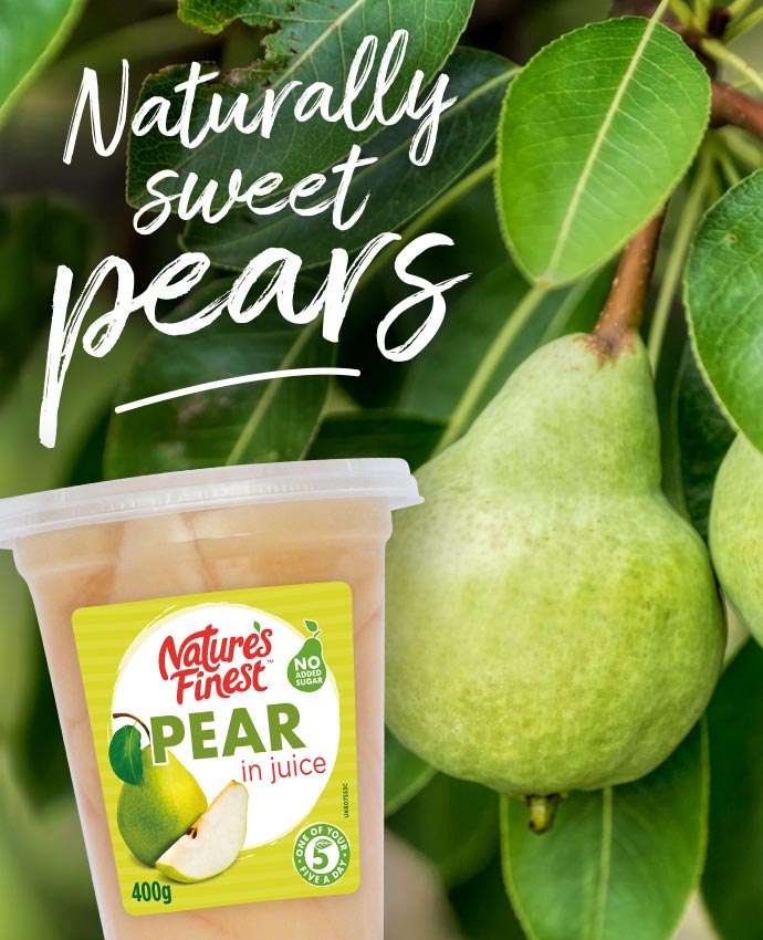 Naturally sweet pears
