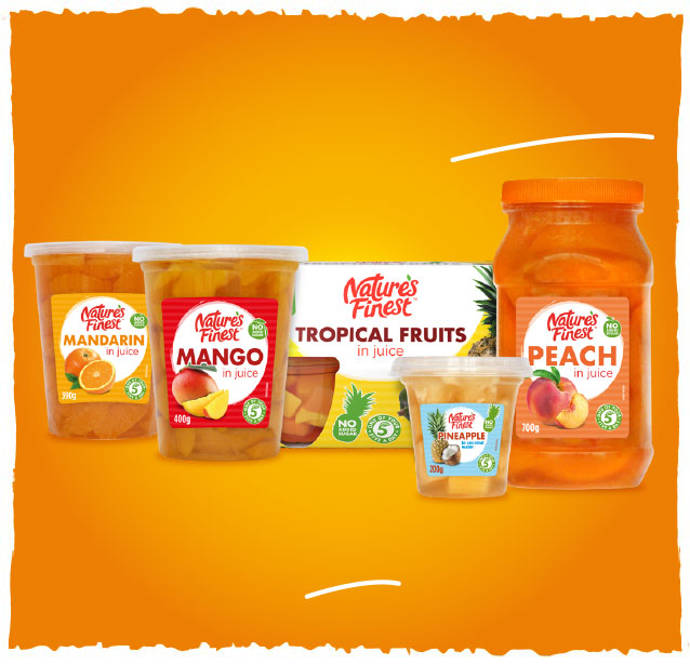 Nature's Finest refreshing fruit pots.