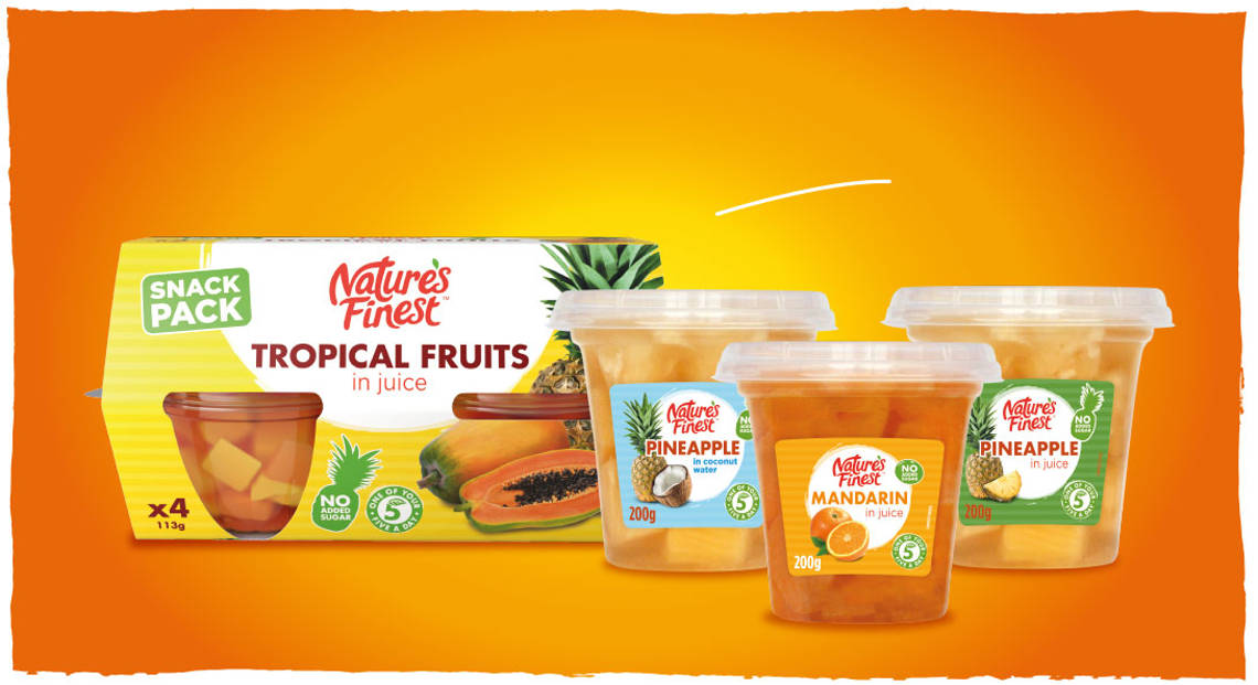 Fruit pots for snacking.